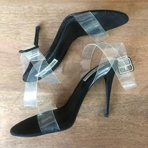 Steve Madden Clear Strappy Heels